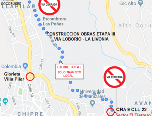 Cierre total vía Liborio – La Livonia