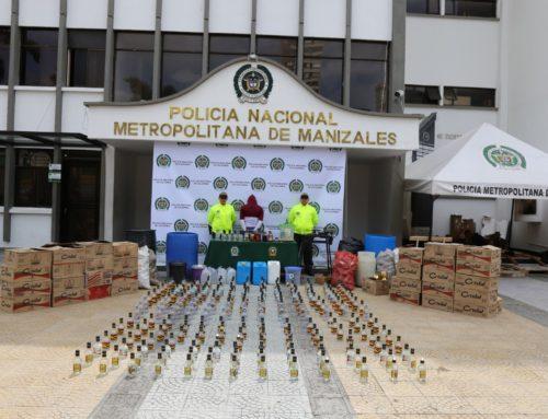 Desmantelada fábrica clandestina de adulteración de licores en Manizales