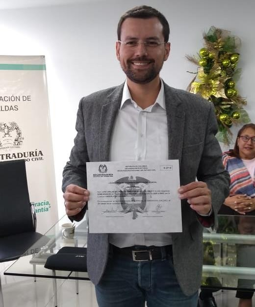 Luis Carlos Velásquez , Gobernador electo de Caldas